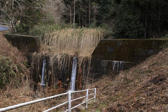 流入部にある砂防ダムを望む