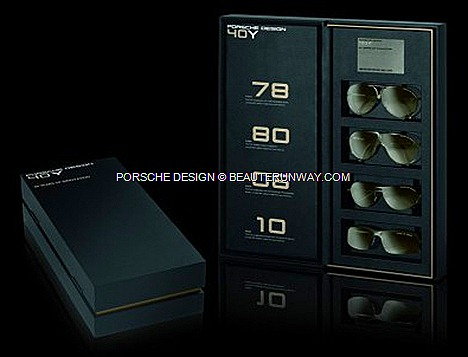 Porsche Design 40Y Limited edition P'8478 P'8480 Y, P'8418 Y P'8494 Y eyewear aviator sunglasses.ultra-light titanium David Beckham, Brad Pitt, Jennifer Lopez first black wristwatch 40Y Iconic Products matt silver-grey