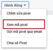 Lấy mã Pixel