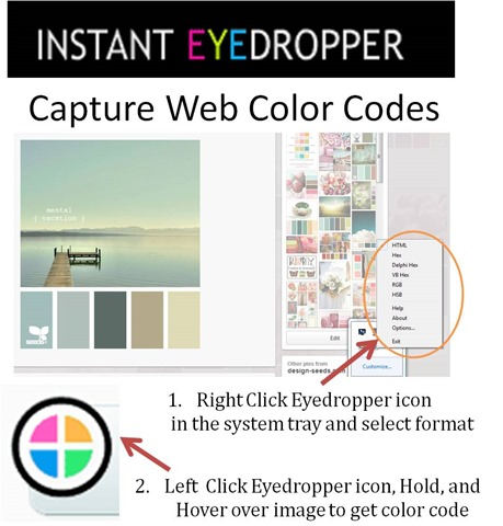 Capture web color codes with instant eyedropper pinterest images