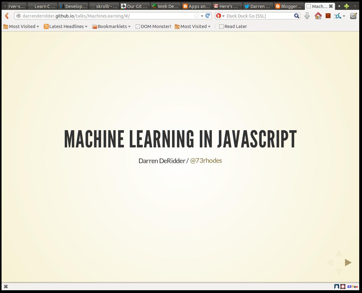 machine learning javascript