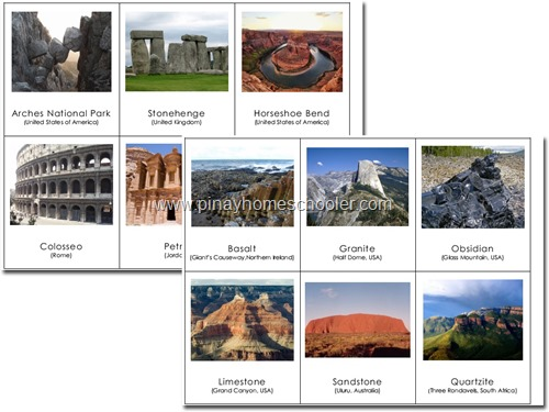 FREE Famous Rock Formations Picture Cards