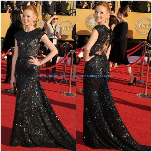 Jayma Mays arrives at the 18th Annual Screen Actors Guild Awards3