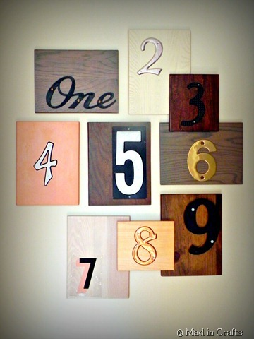 house number wall art