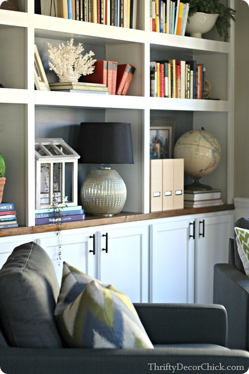 DIY bookcases with storage
