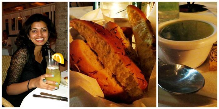 cocktail. bread. pesto