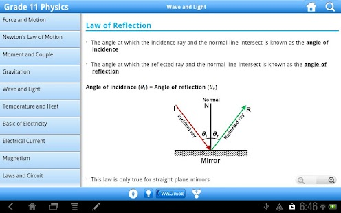 Grade 11 Physics by WAGmob - screenshot thumbnail