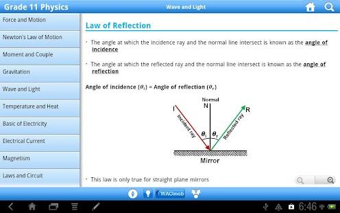 Grade 11 Physics by WAGmob - screenshot thumbnail