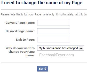 Change your facebook page name -facebookfever.com