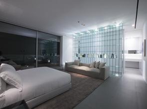 Decoracion interior minimalista en habitacion