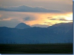 1215Alberta Hwy 6 South Pincher Creek - view of sunset over the mountains from our hotel window