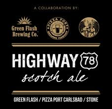 Logo of Green Flash / Pizza Port Carlsbad / Stone Highway 78 Scotch Ale