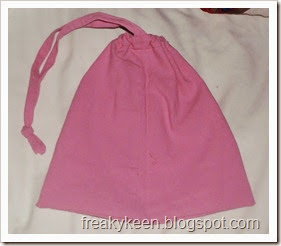 Drawstring bag from pants