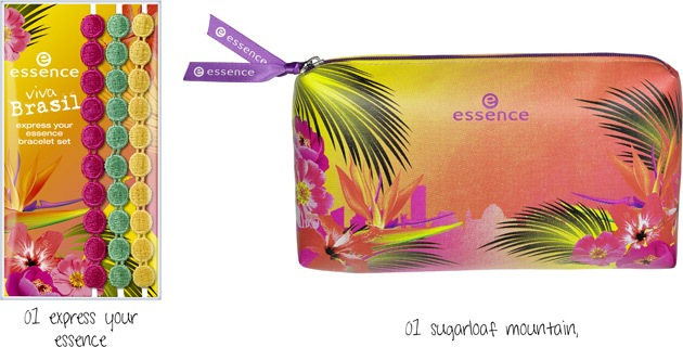 Essence Viva Brasil braceket + make up bag