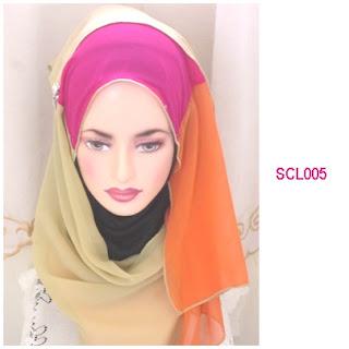 shawl chiffon 3 layer teal