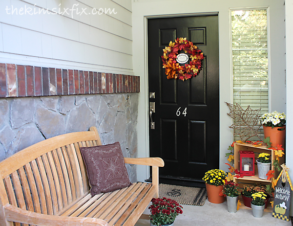Front door autumn