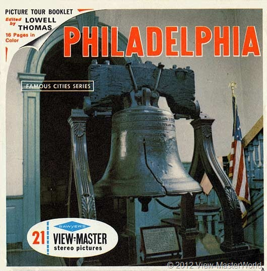 View-Master Philadelphia (A631), packet cover