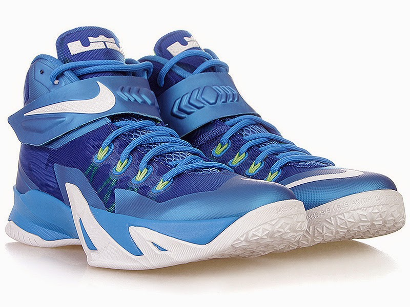 fa7689c27703 Closer Look at Nike Zoom Soldier 8 Blue   Volt Dropping Next Week ...