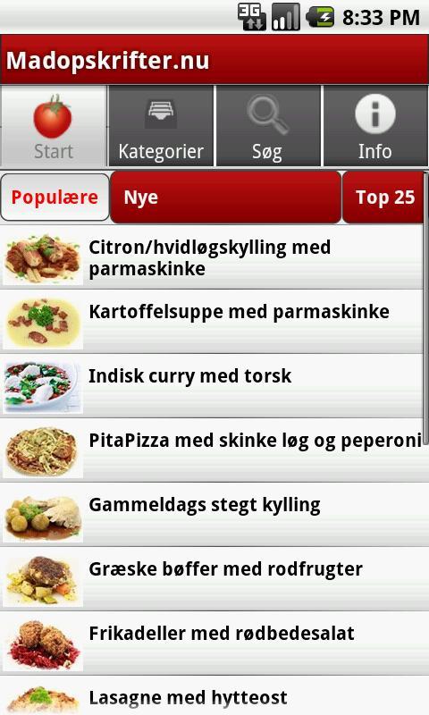 Madopskrifter.nu - Madplanen - screenshot