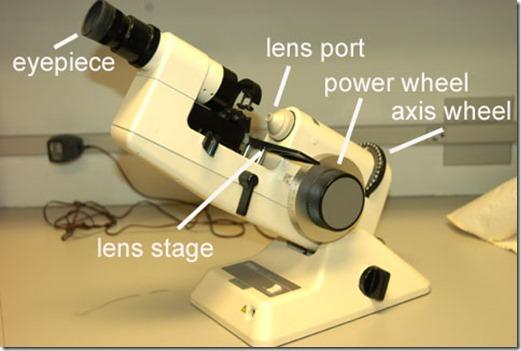 Lensometer adalah alat yang digunakan untuk membaca resep lensa kacamata, atau lensa kontak kaku.