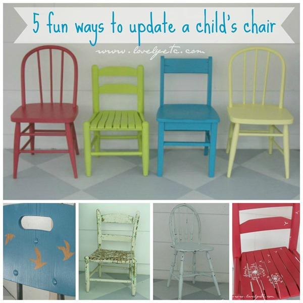 Super 5 Ways To Transform Little Kid Chairs Lovely Etc Squirreltailoven Fun Painted Chair Ideas Images Squirreltailovenorg