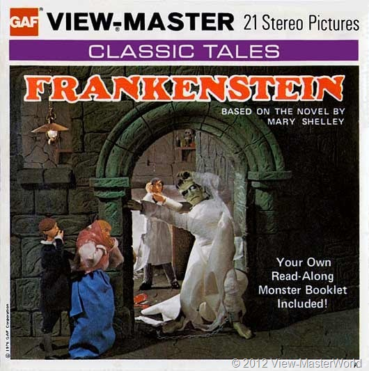 View-Master Frankenstein (B323), packet cover