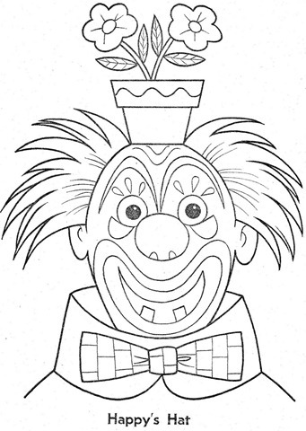 palhaço-colorir-Clowns To Color-coloring page-00033