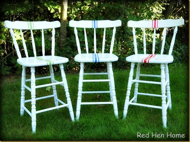 Red Hen Home Grain Sack Bar Stools 5