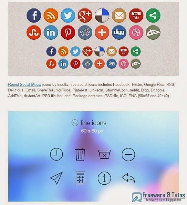 20 packs d'icônes gratuites sur le thème des médias sociaux
