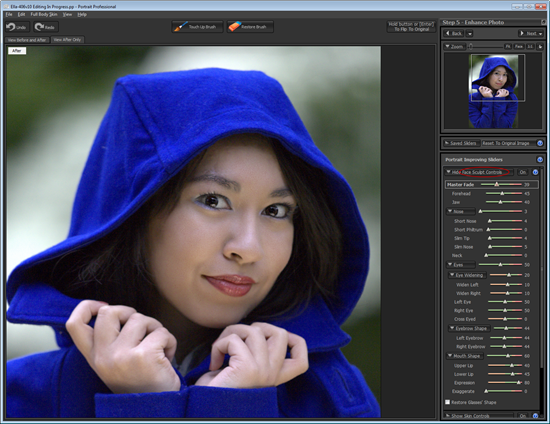 Portrait Professional 10.2 Face Sculpt Controls