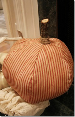 country living fair mattress ticking pumpkin