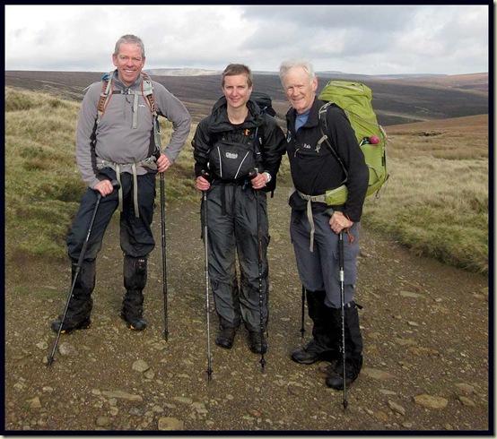 Mick, Gayle and Martin at Ashop Head
