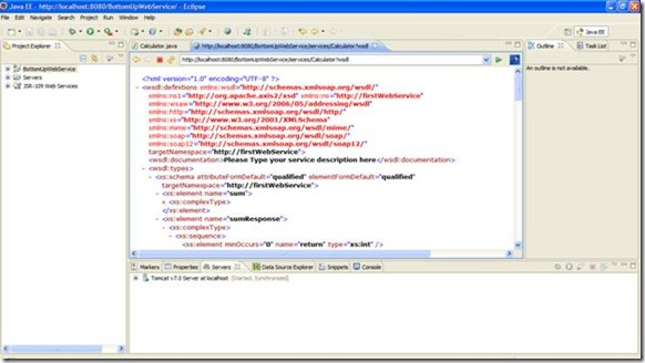 WSDL Dispay in Eclipse