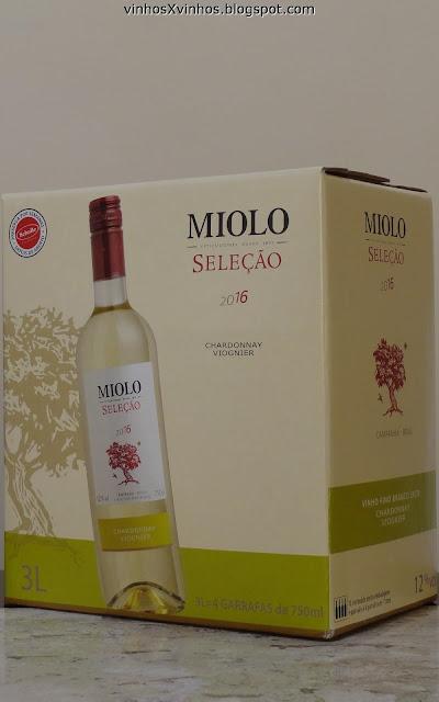 Bag in box de vinho branco