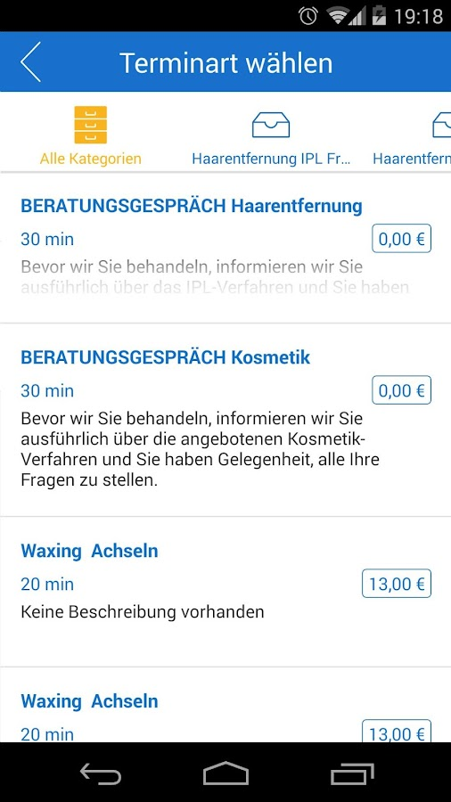 onlinetermine- screenshot