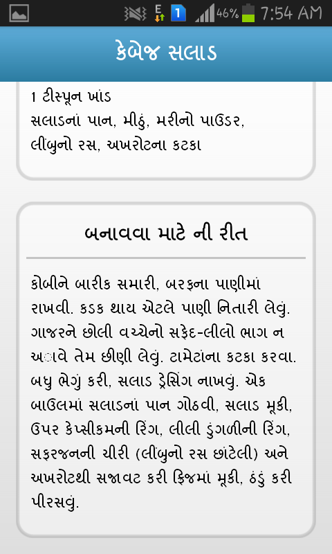 Gujarati Recipes Book - screenshot
