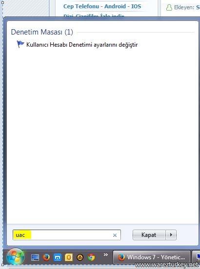 Windows 7 ve Windows 8 - Yönetici olarak dosya çalıştırmak