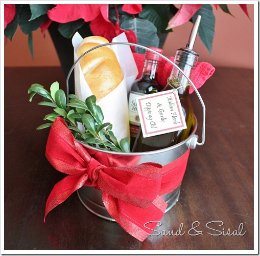 Garlic and Herb Dipping Oil Hostess Gift Pail