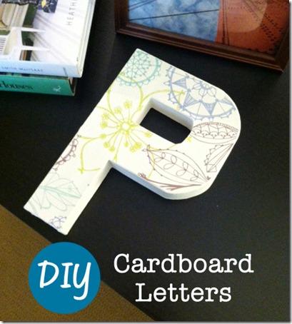 DIY cardboard letter