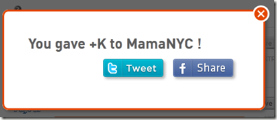 You Gave +K to MamaNYC