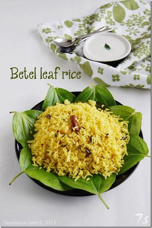 Betel leaf rice / Vetrilai sadham   7aum Suvai