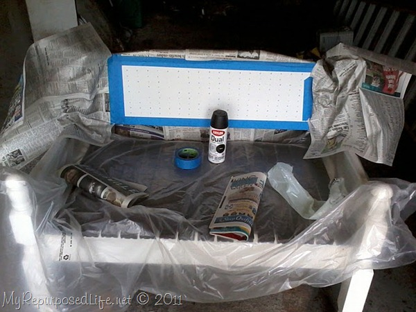 Dual spray paint