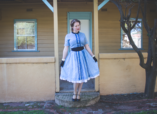 1950s fashion ~ blue lolita look | Lavender & Twill