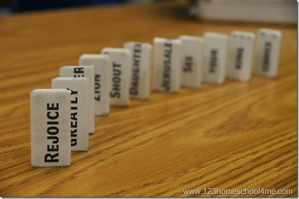 Bible Verse - Domino Memory Verse Activity for Kids