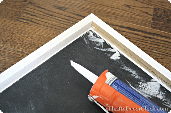 caulking a tray