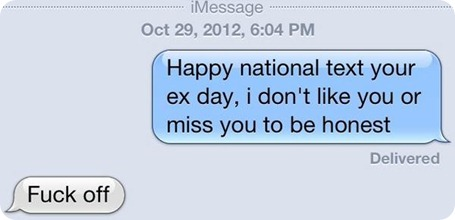 National text your ex day