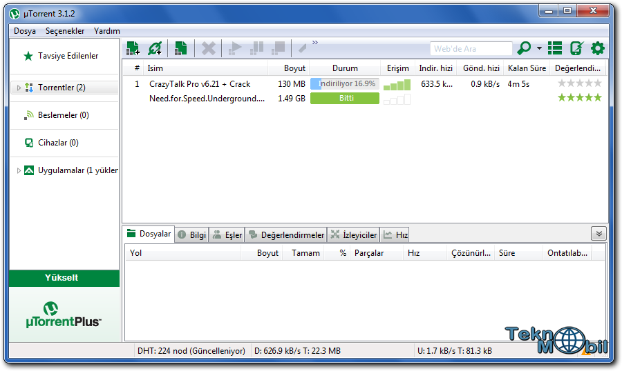 uTorrent v3.4.1 Build 31515 Türkçe