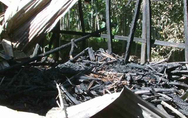 Noakhali Bashkhali hindu house temple idols destroyed burned by muslim fanatic