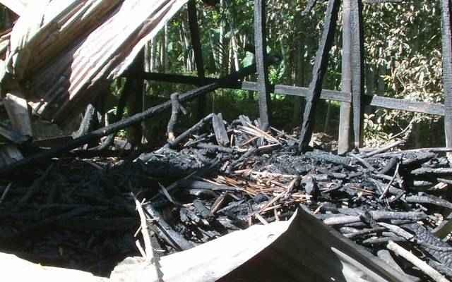 Noakhali Bashkhali hindu house temple idols destroyed burned by muslim fanatic