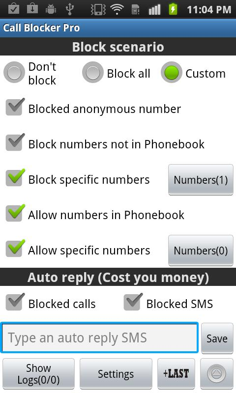 Ultimate Call Blocker Free - screenshot